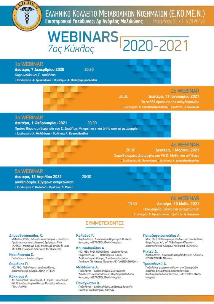 3rd Webinar – 7th Course Webinars 2020 – 2021 – 01/02/2021
