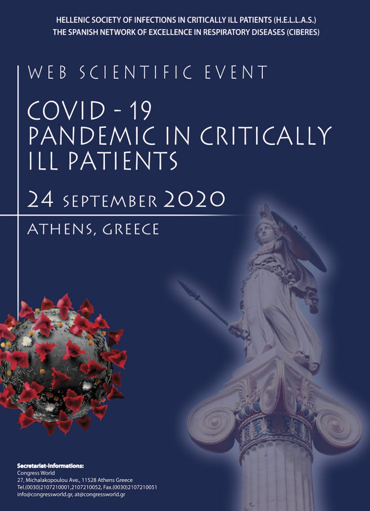 "INTERNATIONAL WEBINAR – ""COVID-19: PANDEMIC IN CRITICALLY ILL PATIENTS"""