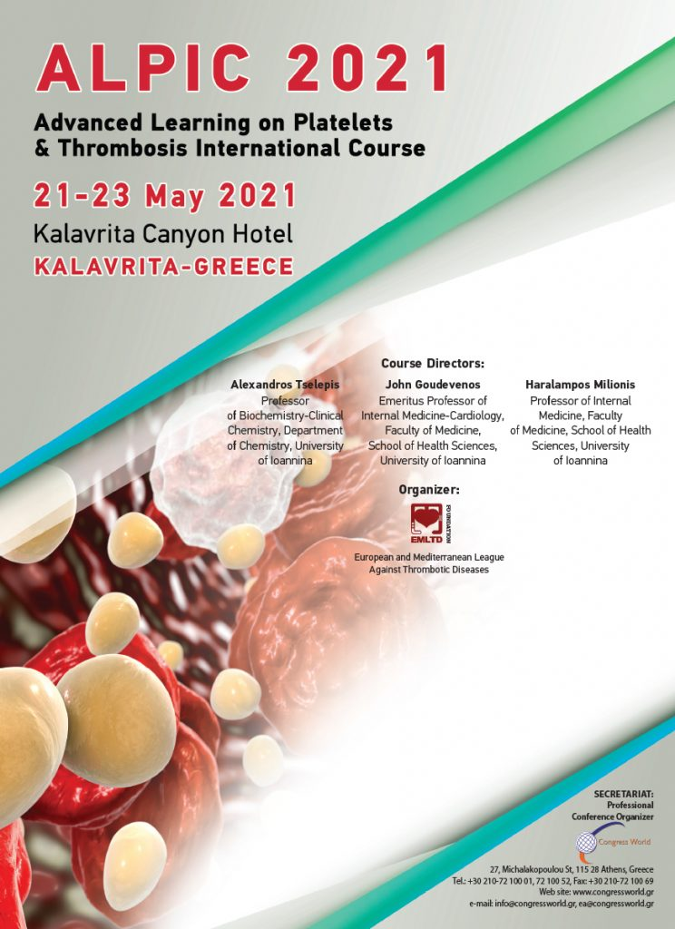 ALPIC 2021 (Advanced Learning on Platelets and Thrombosis International Course)